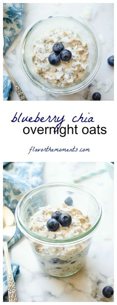 Breakfast - blueberry-chia-overnight-oats-collage | flavorthemoments.com