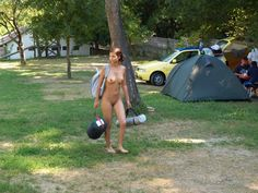 Camping babe nude