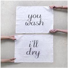 Team Towels  set of 2 extra large tea towels  door blackbirdtees, $32.00