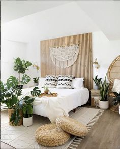 Buying Your First Home, Home Buying, Slat Wall, Unique Wall Decor, Home Decor Bedroom, Bali Bedroom, Bedroom Ideas, Bedroom Wall, Master Bedroom