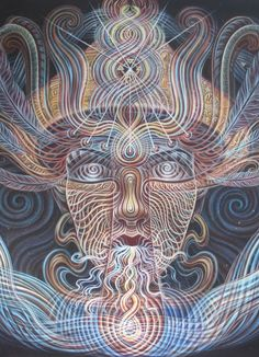 The Shaman – Amanda Sage Collection Fine Art Prints, Canvas Prints, Psy Art, Visionary Art, Psychedelic Art, Sacred Geometry, African Art, Painting & Drawing, Giclee Print