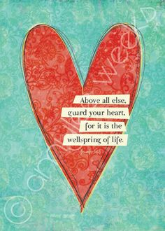 Scripture art Guard Your Heart Christian art print by amyleeweeks, $10.00