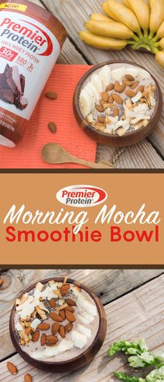 start off your morning right with our protein mocha bowl