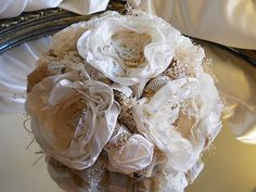 10 Burlap and Vintage Lace Wedding Cake Topper ...   Wedding ideas fo ...