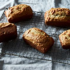 Banana Bread: not too sweet, very spongy + plush, clearly not a lot of fat, but good flavor. Would make again for a healthy banana bread.
