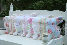 cute bunny pillows!  #cherishedvintage.blogspot.com