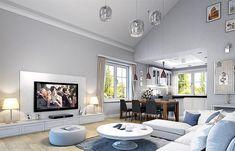 Plan Prizemlje ulaz 5,04 m² kotlovnica 4,39 m² garaža 21,24 m² dnevni boravak + trpezarija … Beautiful House Plans, Dream House Plans, Beautiful Homes, Small Villa, House Construction Plan, Model House Plan, Cottage Plan, Home Decor Kitchen, Bungalow