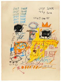 Jean-Michel Basquiat, Untitled (Just Sour), 1982,