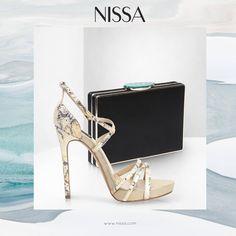 NISSA Accessories  www.nissa.com  #nissa #accessories #shoes #clutch #fashion #style #heels #texture #gold