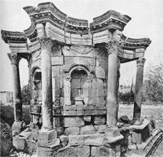 Remain of the temple of Venus at Baalbek This is a baroque style of the Ancient time