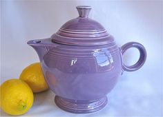 "fiestaware teapots vintage | Vintage Fiesta Teapot Lilac- Retired Color - Pristine ""Like New ..."
