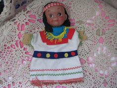 Vintage Darling Little Indian Girl Puppet  by Daysgonebytreasures