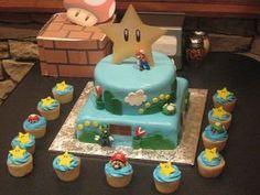 had a family friend make the bf a mario birthday cake!