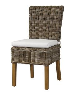 Padma's Plantataion Boca Chair - http://www.furniturendecor.com/padmas-plantataion-boca-chair-kubu-with-white-cushion/ - Categories:Chairs, Dining Chairs, Dining Room Furniture, Furniture, Home and Kitchen, Living Room Furniture, Oversized Chairs