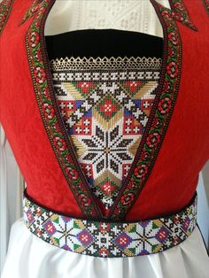 Made by Inger Johanne Wilde Folk Clothing, Beads, Norway, Christmas Ideas, How To Make, Sky, Inspiration, Clothes, Hardanger