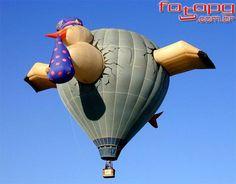 Balão cegonha, o mais interessante de todos os balões