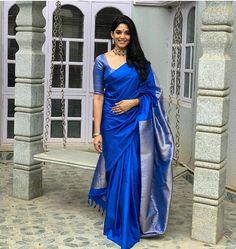 Check Out Ultra Cool Sarees From The Secret Label Keep Me Stylish Kerala Saree Blouse Designs, Saree Blouse Patterns, Blouse For Silk Saree, Saree Blouse Neck Designs, Sari Design, Anarkali, Lehenga, Silk Saree Kanchipuram, Indian Silk Sarees