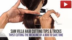 Save time by Twist Cutting in the nape area. With a little practice, you will soon be utilizing this technique in your day-to-day haircuts.