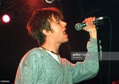Damon Albarn of Blur performing on stage at Shepherds Bush Empire, London 26 May 1994.