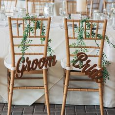 Cutest bride and groom signs!