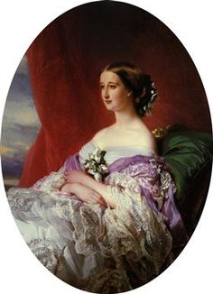 Eugenie de Montijo, Empress Consort of the French, Condesa de Teba, Marquise of Ardales; by Franz Xaver Winterhalter. She was married to Napoleon III, Emperor of the French. Franz Xaver Winterhalter, Marie Antoinette, Kunsthistorisches Museum, Etiquette Vintage, Art Database, Museum Of Fine Arts, Woman Painting, Oeuvre D'art, Victorian Women