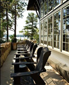 These free Adirondack chair plans will help you build a great looking chair in just a few hours, Build one yourself! Here are 18 adirondack chair diy Outdoor Rooms, Outdoor Living, Indoor Outdoor, Outdoor Decor, Outdoor Chairs, Porches, Lakeside Living, Lakeside Terrace, Coastal Living