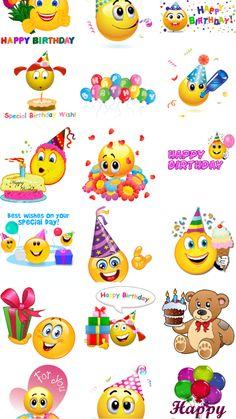 Happy Birthday Wishes Cake, Happy Birthday Pictures, Happy Birthday Messages, Happy Birthday Quotes, Birthday Emoticons, Funny Emoticons, Birthday Emoji, Smileys, Animated Polar Bear