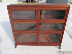 ANTIQUE DOUBLE WIDE MACEY C-1915 MAHOGANY BARRISTER BOOKCASE $1275.00