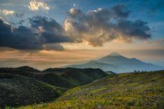 Mount Prau, Dieng, Wonosobo, central java.