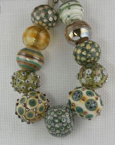 Forest set - hollow lampwork glass beads by CK Lampwork on eBay