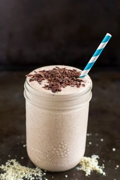 Cookie Dough Protein Smoothie by edible sound bites