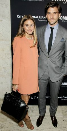 Olivia Palermo and Johannes Huebl at The Hollywood Reporter's 35 Most Powerful People in Media event in NYC