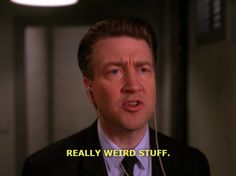 I used the tv show Twin Peaks as one of the primary texts in my English Comp course this semester. This image of Twin Peaks creator and director David Lynch making a cameo on his own show about sums up my students' reaction. I'm going to try it again next year.