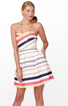 Lily Pulitzer Dress Size 2, Gorgeous Sweetheart Strapless - $100