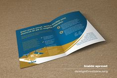 Free Bifold Booklet Flyer Brochure InDesign Template No. 2