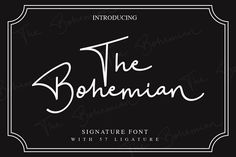 """Please check our latest font release called: """"Catarina an Handwritten Font"""" An Handwritten Script: The Bohemian - a Signature Font is a handwritten script font Latest Fonts, New Fonts, Fancy Fonts, Bohemian Font, Font Creator, Handwritten Script Font, Cursive, Signature Fonts, Signature Style"""