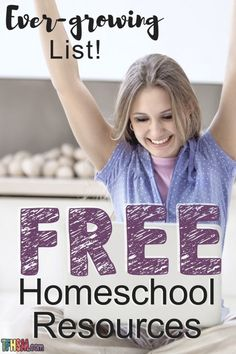 evergrowing list of free homeschool resources sorted by grade level Free Homeschool Curriculum, Homeschool High School, Homeschooling Resources, School Plan, School Tips, Home Schooling, 1 Place, Preschool Kindergarten, Preschool Learning