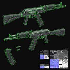 ArtStation - Lowpoly Guns II, Ben Bolton