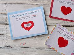 Scratch Off Valentine Gift Certificates by @Amanda Snelson Snelson Formaro Crafts by Amanda