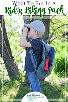 What You Need In A Hiking Pack for Kids Looking to hit the trails? Check out this hiking pack for kids. It has just enough stuff for beginners or those hiking with parents. Perfect for camping as well. Hiking Tips, Hiking Gear, Hiking Boots, Baby Hiking, Hiking With Kids, Travel With Kids, Camping Essentials, Camping Hacks, Camping Activities