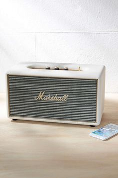 New Home + Apartment Essentials Marshall Stanmore, Roberts Radio, Portable Speaker System, Sun Shop, Apartment Essentials, All The Small Things, Boombox, Marshall Speaker, Bluetooth Speakers