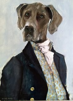 paintings of animals Creative Portraits, Pet Portraits, Anthro Cat, Animal Paintings, Oil Paintings, Character Portraits, Dog Art, Mans Best Friend, Oil On Canvas