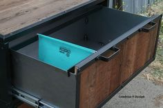 Buy a Hand Made Vintage Industrial File Cabinet. Mid Century ...