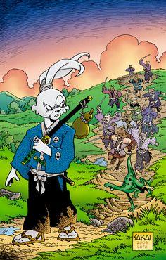 "The gang war between Boss Higa and Boss Komo hits a fever pitch as the rabit ronin concludes his visit to ""A Town Called Hell""! Comic Book Characters, Comic Books, Usagi Yojimbo, Tmnt Girls, Dark Horse, Teenage Mutant Ninja Turtles, Comic Covers, Comic Art, Samurai"