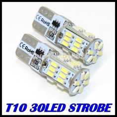 Car Light Source  2PCS/LOT t10 led strobe high quality Strobe flash w5w 30smd t10 30led 3014smd car led Light Bulbs wholesale free shipping -- AliExpress Affiliate's Pin. Click the image to visit the website
