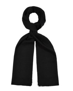 Wool Textured Scarf (Rocco) - Black