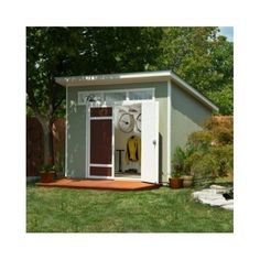 Outdoor Barn Shed Backyard Wood Storage Lawn Mower Building Garden Furniture