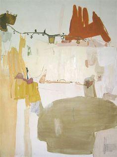 "Mekhala Bahl - ""TUSCANY LAUNDRY"", OIL,ACRYLIC, COLLAGE, PASTEL ON CANVAS 78 x 59 in. | 2007"