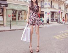 Image via We Heart It #dress #fashion #fashionable #floral #girly #street #kfashion