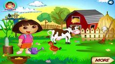 Dora Farm online games, dora the explorer games Funny Games For Kids, Online Games For Kids, Play Game Online, Minion Games, Cartoon Games, Cartoon Kids, Tom Games, Farm Online, My Talking Tom